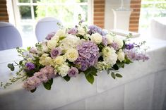 Purple Wedding Flowers Romantic ivory and lilac wedding flowers summer wedding at Great Fosters in Surrey. Lilac Wedding Flowers, Wedding Table Flowers, Wedding Table Centerpieces, Floral Wedding, Wedding Bouquets, Wedding Decorations, Branches Wedding, Ranunculus Wedding, Summer Centerpieces