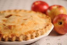 Paper Bag Apple Pie:  This reminds me, in the 70's the new thing was to place your roasting turkey in brow paper bags, made them tender and they still browned. . . so I suppose this would work for a pie too!