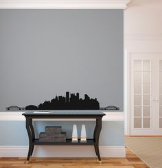 Pittsburgh City Skyline Silhouette Wall Decal Custom Vinyl Art - Custom vinyl decals pittsburgh