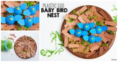 What do you do with all of those leftover plastic easter eggs? We usually save them for crafts! Here's one craft project you can do to recycle those plastic eggs, a baby birds nest using a paper plate. Enjoy! Plastic Egg Baby Birds Nest Craft Materials Needed: Paper Plate Brown Paint Brown, Yellow, and Blue …