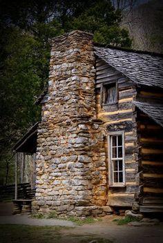 Beautiful rock chimney.