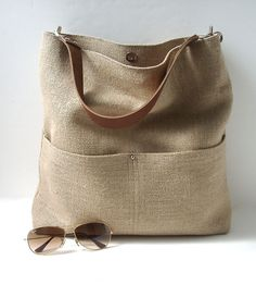 Linen Beach Tote | INACTIVE BAGS & WALLETS | Independent Reign | Scoutmob Shoppe | Product Detail