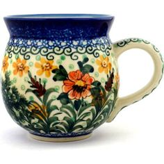 Polish Pottery 12 oz Bubble Mug | Boleslawiec Stoneware | Polmedia H3138B