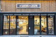Les saveurs de JOSEPH à Rennes - Architecture par l'agence LABEL ETUDES Coffee Shop, Saveur, Joseph, Architecture, Rennes, Ice, Coffee Shops, Arquitetura, Coffeehouse