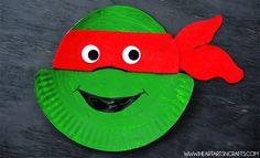 Ninja Turtle Paper Plate Kids Craft | 20+ Paper Plate Kids Crafts