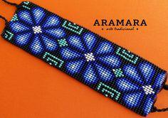 Mexican Huichol Loom Beaded Peyote Bracelet PT-0038 by Aramara