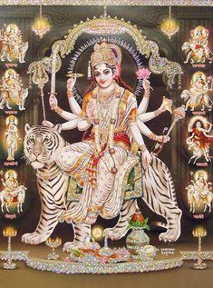 Maa Durga Image, Durga Kali, Shiva Shakti, Durga Goddess, Shiva Hindu, Shiva Art, Durga Images, Lakshmi Images, Happy Navratri Images