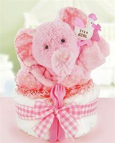 Baby Shower Pink Huggable Diaper Cake