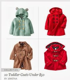 Grace And Josie: 10 Adorable Toddler Coats Under $50