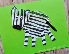 I HEART CRAFTY THINGS: Cupcake Liner Zebra Craft for Kids