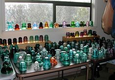 I'm nuts for green-blue glass insulators. Don't worry, my collection only consists of about six...