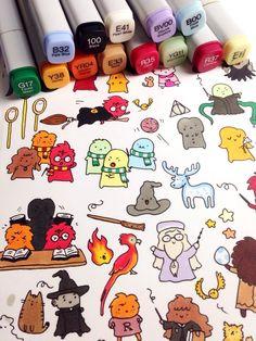 Shopping : les doodles Harry Potter de KiraKiradoodles