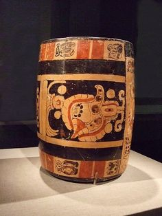 Vase for pouring chocolate earthenware Belize Late Classic Maya Altun-Ha style by mharrsch, via Flickr