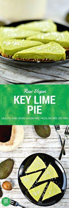 Raw Key Lime Pie | WIN-WINFOOD.com #healthy #raw #vegan #glutenfree #paleo