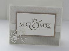 Stampin Up Wedding Card Kit. Mr. & Mrs. #StampinUp