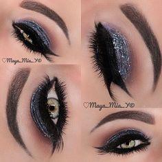 ✨NYE Makeup idea ✨ I used @Motivescosmetics     Lashes @flutterlashesinc   Brows : DipBrow Ebony @anastasiabeverlyhills   Subscribe to my YouTube Channel 007 Maya Mia for video tutorials - @maya_mia_y- #webstagram