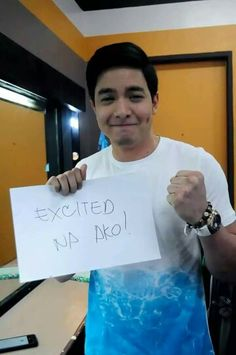 That excited face! Excited Face, Maine Mendoza, Alden Richards, Song Joong Ki, Singer, Places, Celebrity, Singers, Celebs