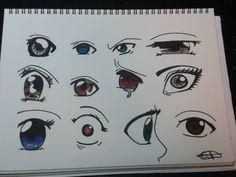 Dibujando 12 ojos anime/manga
