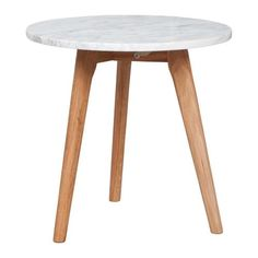 Side table or bedside design with Scandinavian style. Marble top and wooden legs. Low Tables, Small Tables, Home Design, Interior Design, Marble Wood, Wood Table, Interior Inspiration, Home Accessories, Sweet Home