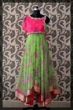 Half Saree Designs, Choli Designs, Kurta Designs Women, Indian Wedding Gowns, Indian Dresses, Ethnic Fashion, Indian Fashion, Anarkali Dress, Anarkali Suits