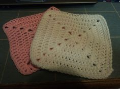 Solid Granny Square wash clothes pack of five by Kittycatcrochet1, $10.00