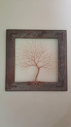 More Information Framed Wall Art Wire Tree