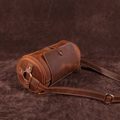 Handcrafted Leather Mini Cylinder Bag Leather Belt Bag, Leather Handle, Leather Tooling, Leather Purses, Leather Backpack, Tooled Leather, Leather Gifts, Leather Craft, Handmade Leather
