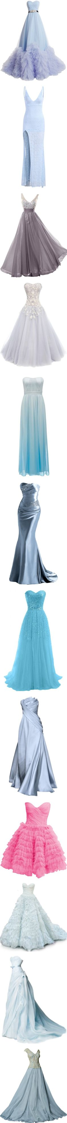 Cinderella's Dresses by disneydressing on Polyvore featuring women's fashion, dresses, wedding dresses, gowns, long dresses, vestidos, blue, long blue dress, lace maxi dress and long sleeve dress