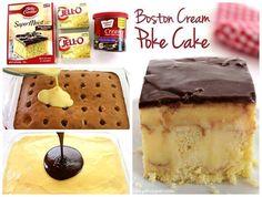 Boston Cream Poke Cake ~ best recipes