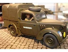The Tamiya British 10hp Austin Tilly Utility Car in 1/35 scale from the plastic car model range accurately recreates the real life British military utility vehicle used during World War II.