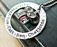 Hand Stamped Necklace  Sterling Silver Jewelry  by yourcharmedlife, $50.00