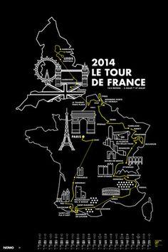 2014 Tour de France Screen Print