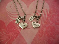 Aunt and Niece Necklaces You are Loved Charm Jewelry Gift