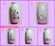 No description of the photo available. Gradient Nail Design, Gradient Nails, Nail Manicure, Diy Nails, Wonder Nails, Animal Nail Art, Bride Nails, Painted Nail Art, Nail Art Videos