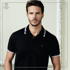 Camisa Polo preta, clássica e com modelagem slim fit da Dudalina. #DudalinaPortofino #LojaDudalina #RadicalChic #ModaMasculina #Homem #Polo #DudalinaPortofino #Ipatinga