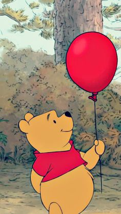 Beautiful Wallpaper Ideas Cartoon Disney Winnie The Pooh For Your Iphone - Holiday Everyday Cartoon Wallpaper Iphone, Disney Phone Wallpaper, Iphone Background Wallpaper, Cute Cartoon Wallpapers, Aesthetic Iphone Wallpaper, Iphone Wallpapers, Red Wallpaper, Disney Phone Backgrounds, Beautiful Wallpaper