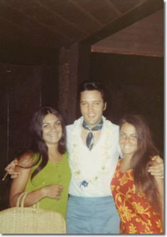 #Elvis in Hawaii, with fans, where he was vacationing with Priscilla, Vernon and friends in October of 1969