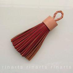 Red brown leather tassel in Etsy shop https://www.etsy.com/listing/244963291/tassel-keychain-tassel-keyring-tassel