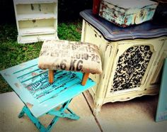 Beautiful Shabby Chic Upcycled Distressed Chalk Paint Furniture