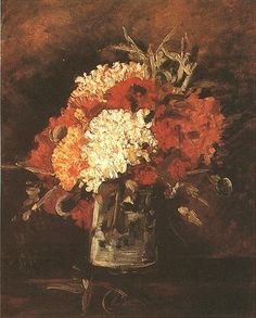 Vincent van Gogh. Vase with Carnations. Paris: Summer 1886