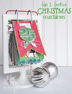 25 easy DIY craft tutorial ideas for your Christmas advent calendar. Countdown to Christmas in a fun and creative way.