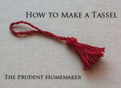 Tassel Tutorial and some printable bookmarks to go with them …