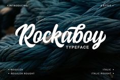 Rockaboy Typeface with 4 style by Blankids on @creativemarket