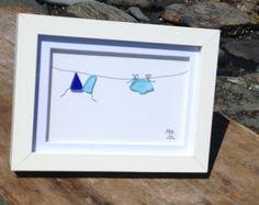 Accroché dans l'art de verre de mer Maine