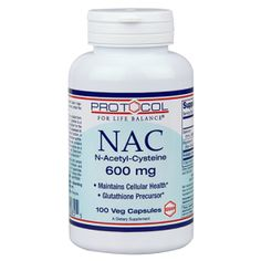 NAC 600mg Protocol for Life Balance