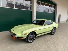 1972 Lime Yellow Datsun for Sale Europe Datsun 240z For Sale, Collector Cars, Cars For Sale, Classic Cars, Restoration, Seeds, Lime, Japanese, The Originals