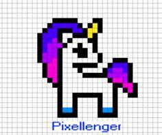 Как рисовать Единорога по клеточкам | Рисунки по клеточкам в тетрадке - Пиксель Арт - Pixel Art Fuse Bead Patterns, Beading Patterns, Shawl Patterns, Lace Patterns, Bracelet Patterns, Embroidery Patterns, Crochet Patterns, Pixel Art Templates, Perler Bead Templates