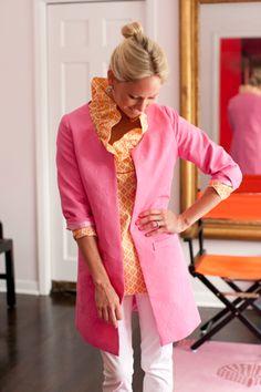 Devon Baer...pink & orange