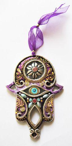 Items similar to HAMSA Blessing Craft Judaica Swarovski crystal Decor Unique Israel Car Gift Evil Eye on Etsy Hamsa Symbol, Hamsa Art, Ethnic Jewelry, Hamsa Jewelry, Boho Jewelry, Jewelry Art, Hand Of Fatima, Crystal Decor, Wire Weaving