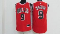 Chicago Bulls Jersey Rajon Rondo #9 Red Jersey [J67]